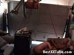 Wife gets busted in the garage This very horny wife thought that she could pull a fast one with her 2 months ago