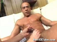 Blonde babe gets paounded This sexy blonde babe gets her moist cunt pounded on by this man's long 2 months ago